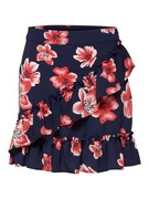 onlNova lux wrap skirt aop berlin flower