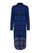 onlRoni l/s check raw dress