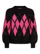 onqHanna l/s jacquard pullover