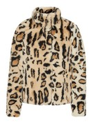 vmThea leo short faux fur jacket