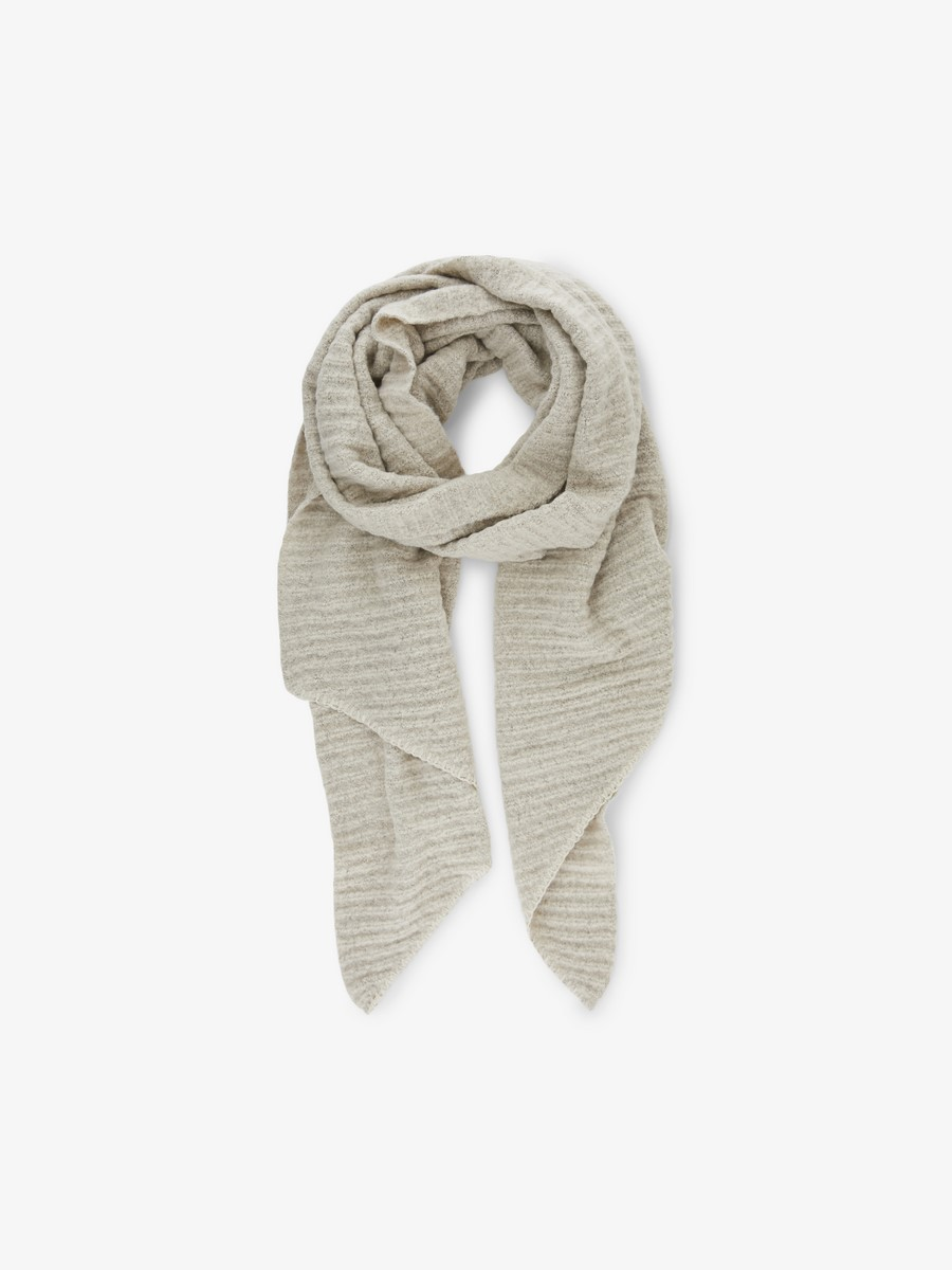 PCPYRON STRUCTURED LONG SCARF NOOS - Whitecap Gray