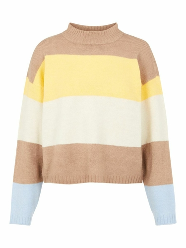 pcSille ls o-neck knit